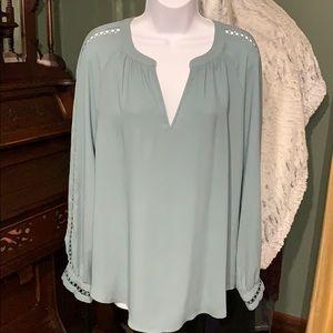 Ann Taylor green blouse